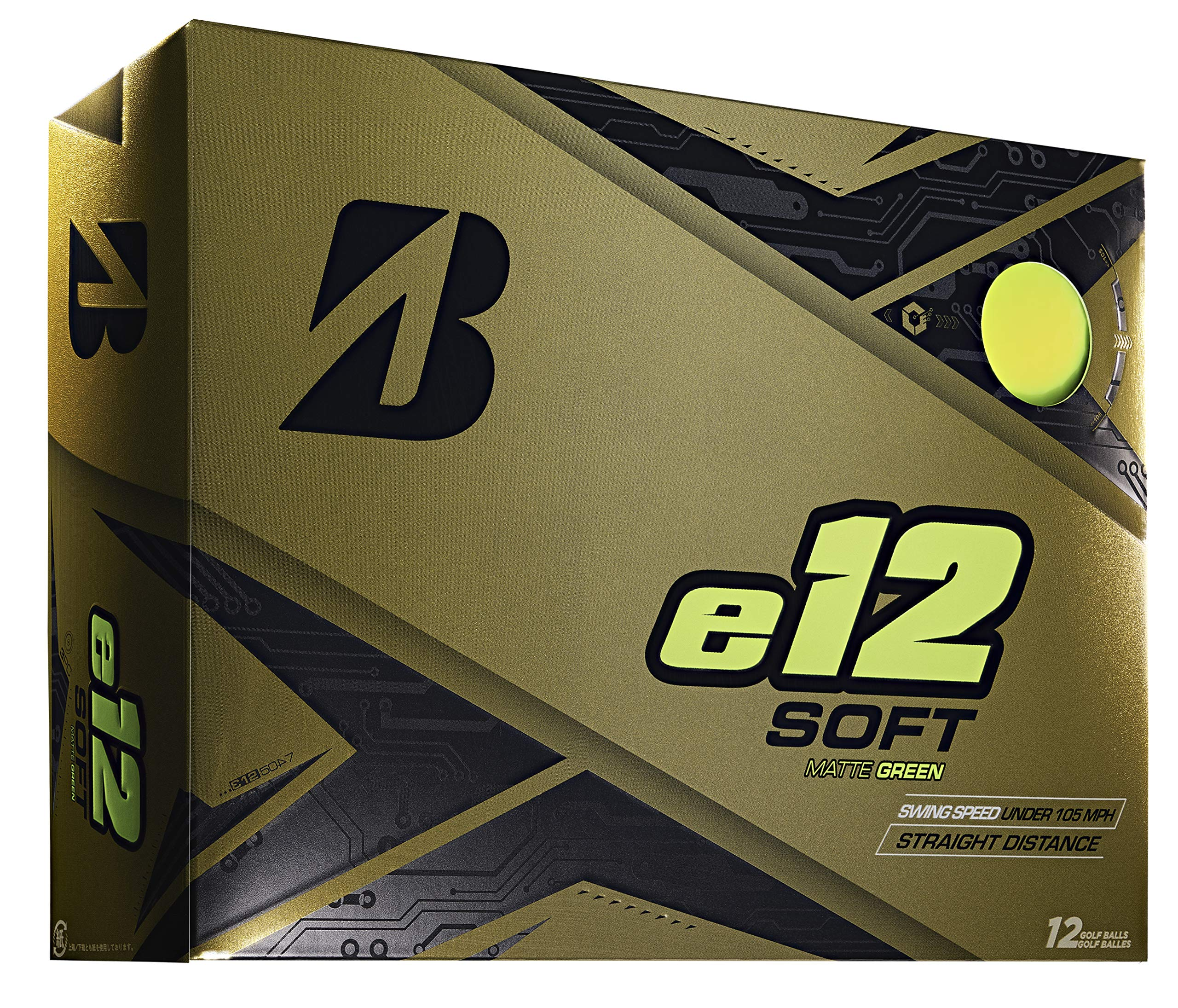 Bridgestone Golf e12 Soft Golf Balls, Matte Green (One Dozen)