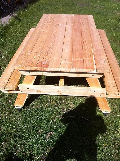 BOIS-KIT - TABLE DE JARDIN BOIS: Amazon.fr: Jardin
