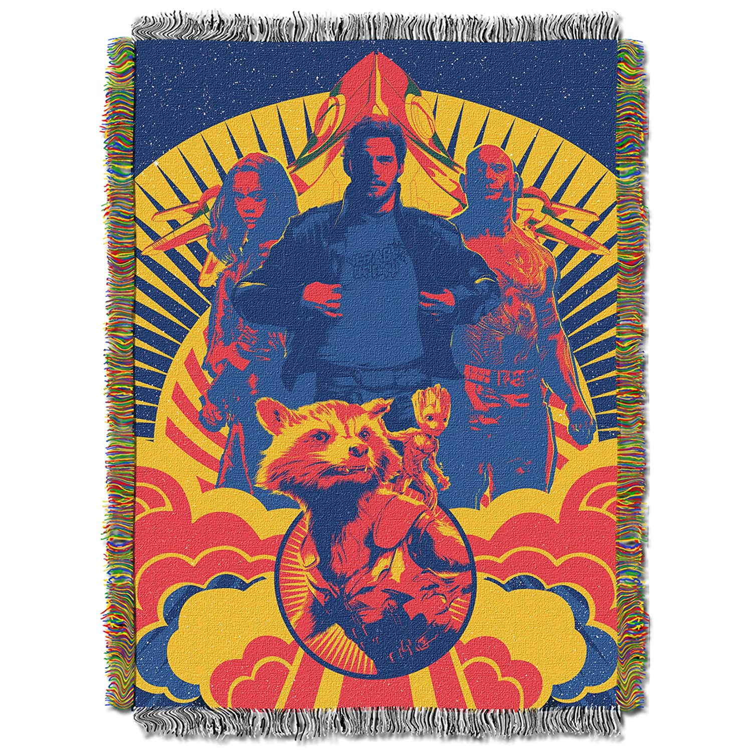 Marvel's Gardians The Galaxy, Pop Guardians Woven Tapestry Throw Blanket, 48 x 60, Multi Color 48 x 60 The Northwest Company 1MAR051000011AMZ
