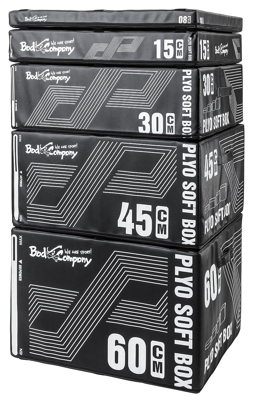 Bad Company Core Plyo-Box Set 5-teiliges Sprungkasten-Set aus Schaumkern schwarz Plyoboxen