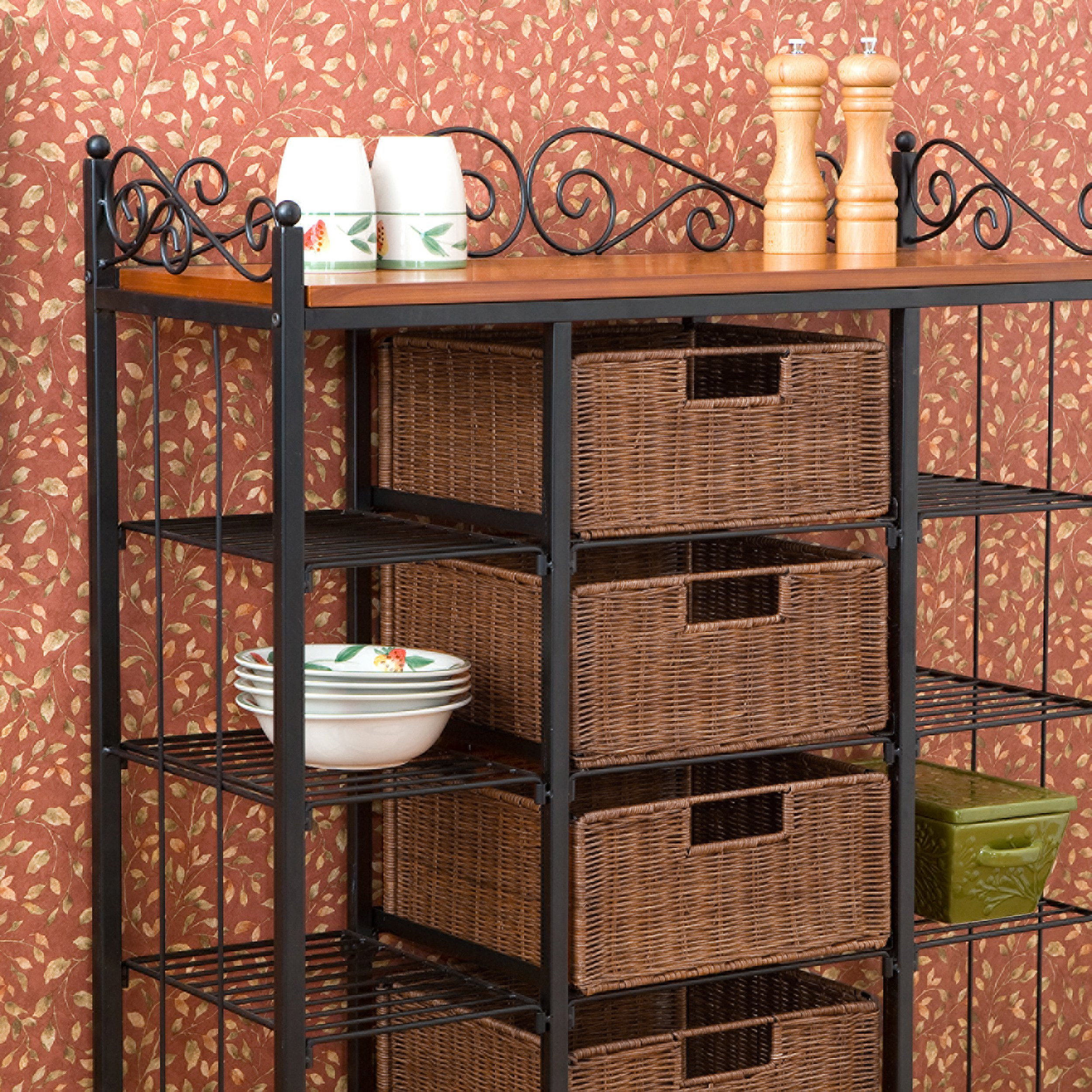 SEI Manilla 5-Drawer Baker's Rack by Southern Enterprises, Inc. (Image #3)