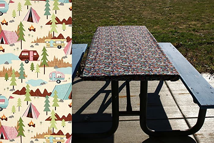 RV Camping Tablecloth   Picnic Table Cover   Fitted Table Cloth For Picnic  Tables And Folding