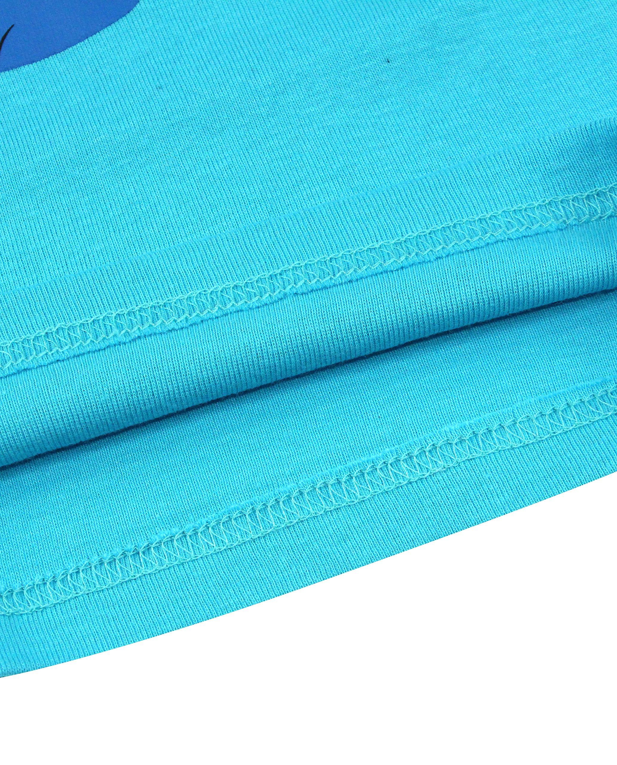 Boys Pajamas Boys Dinosaur Little Kid Shorts Set 100% Cotton Clothes Short Sleeves Sleepwear 8Y by shelry (Image #7)