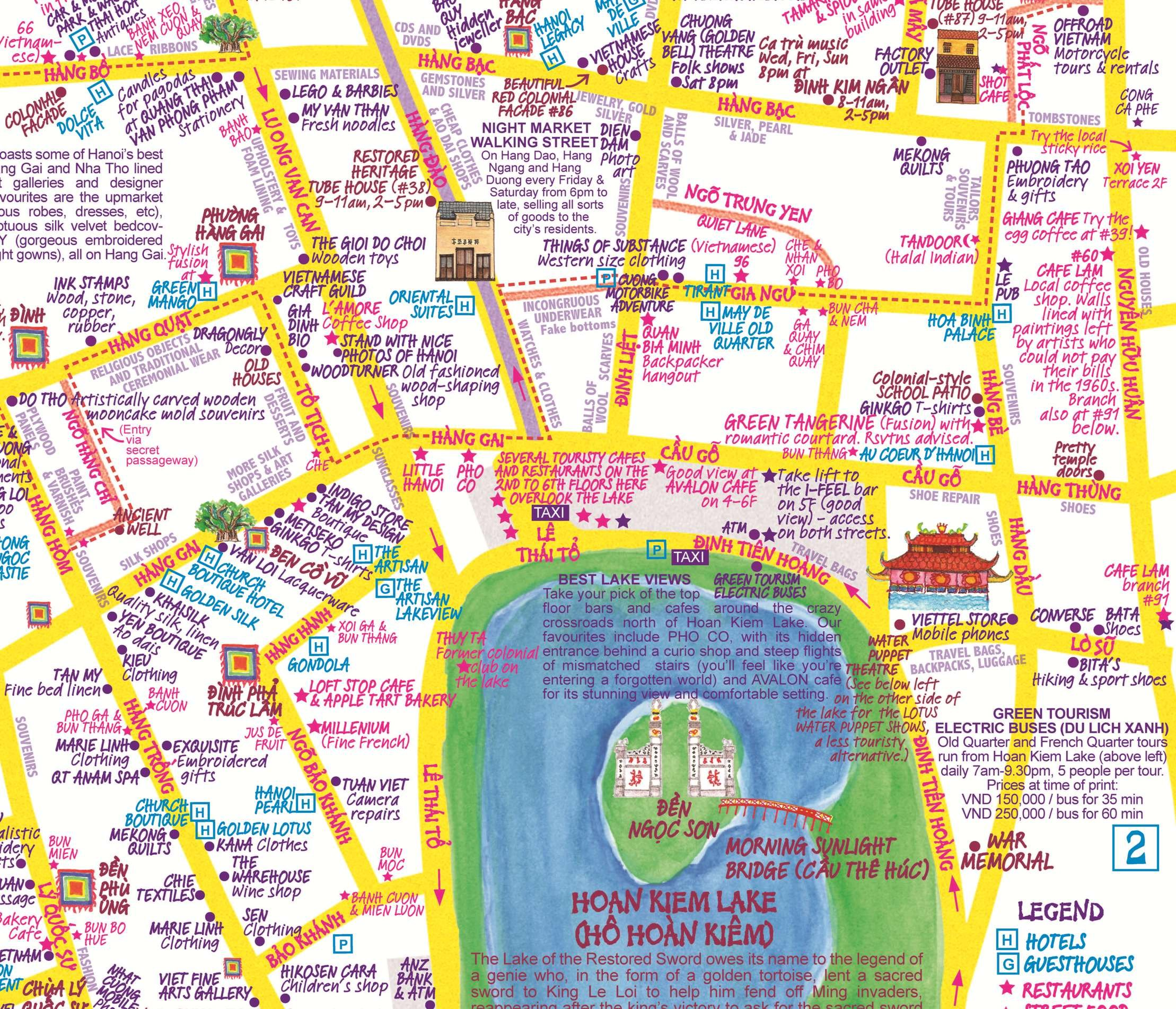 Map Ha Noi.Nancy Chandler S Map Of Hanoi By Julie Isabelle 2nd Edition