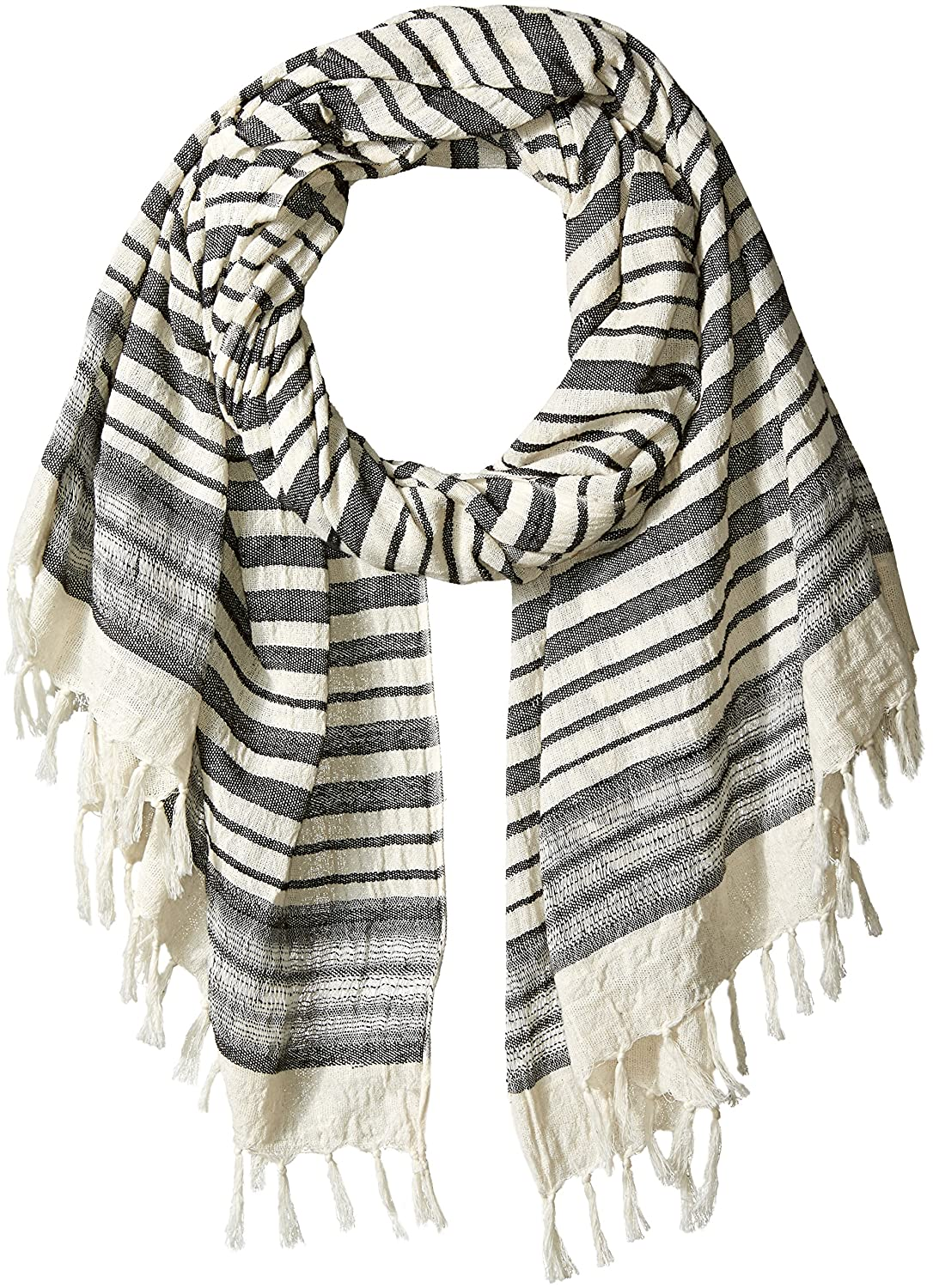 French Connection Women's Deana Lightweight Scarf Summer White/black O/S SSHAY