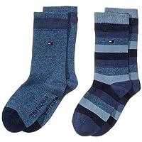 Tommy Hilfiger Th Kids Basic Stripe Sock 2 Paia, Calze da bambini e ragazzi