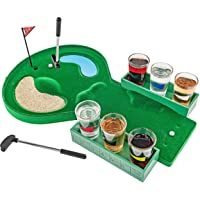 Fairly Odd Novelties FON-10179 Table Golf Shot Glass Drinking Game Set, Green