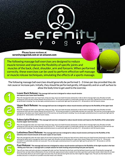 Amazon.com : NEW Serenity Yoga Therapy and Massage Balls! Great ...