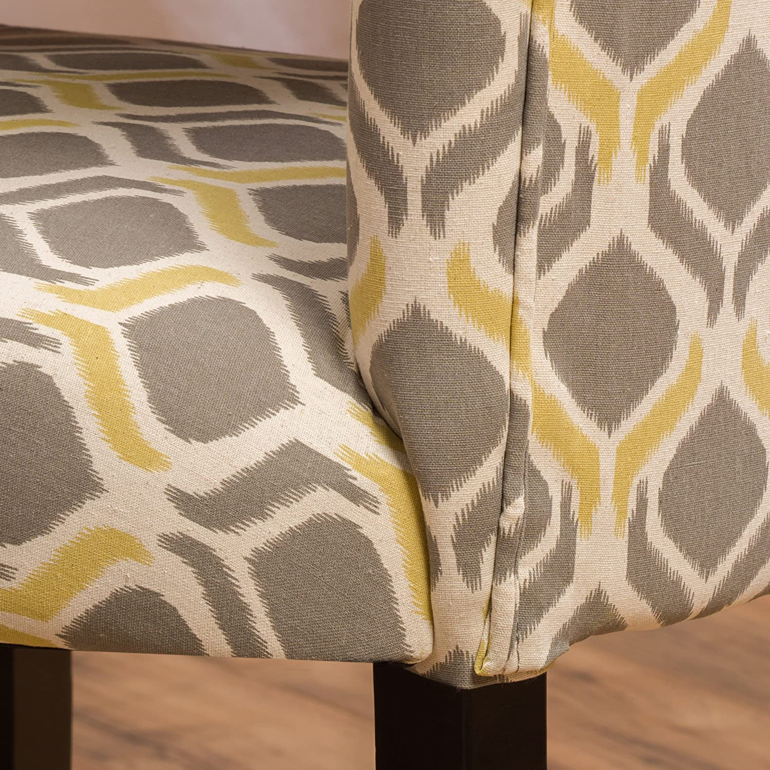 Christopher Knight Home Cailee Fabric Dining Chair, Yellow Gray