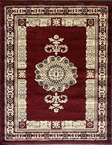 Americana Traditional Persian Area Rug Red Design 121 8 Feet X 10 Feet 6 Inch
