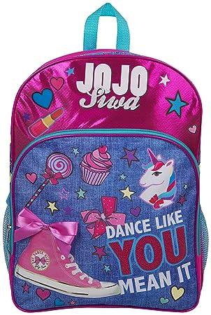 3907b6277b028 JoJo Siwa Bow Backpack Ruck Sack Sholder Bag Denim Large Poket Print Back  Pack Unicorn Bows