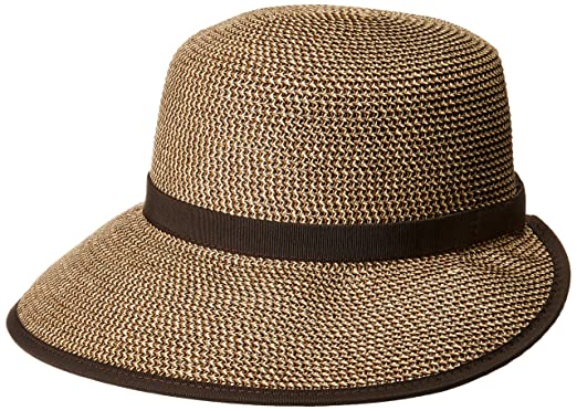 4b08bc5c1ba1 Nine West Women's Packable BRIMLESS Floppy HAT, Brown Combo one Size ...
