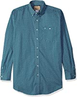 Wrangler Men's Big and Tall Classic One Pocket Long Sleeve Western Woven Shirt