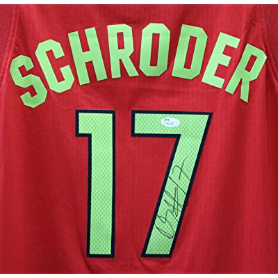 971dbc280f3 Dennis Schroder Atlanta Hawks Signed Autographed Red #17 Jersey JSA COA