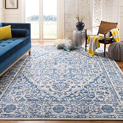 Safavieh Brentwood Collection BNT832M Medallion Distressed Area Rug