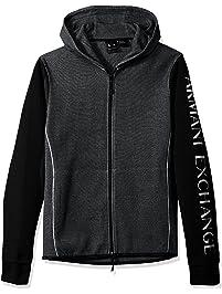 A|X Armani Exchange Mens Standard Two Tone Zip Hoodie