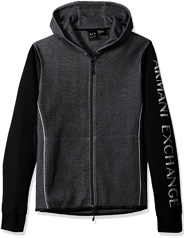 Amazon.com: A|X Armani Exchange Mens Heathered Long Sleeve Logod Hoodie: Clothing