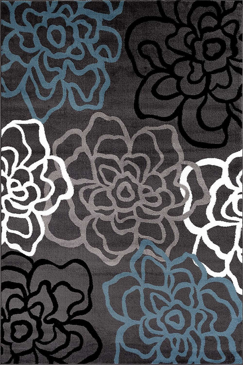 Amazoncom Rugshop Contemporary Modern Floral Flowers Area Rug 5