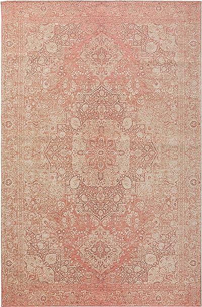 benuta Frencie - Alfombra de Tejido Plano, algodón, Rosa, 120 x 180 cm: Amazon.es: Hogar