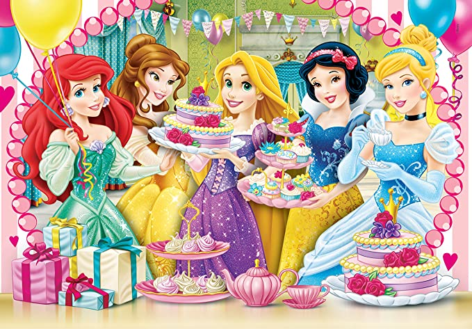 Clementoni Princess - Royal Tea Party Puzzle (104 Piece), 19.09 x 13.19