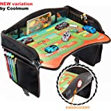 Black Travel Tray – Ideal as Kids Travel Tray – Toddler Travel Tray & Baby Stroller Tray – Travel Activity Tray & Play tray – Baby Snack Tray & Kid's Car Seat Tray - Play Table