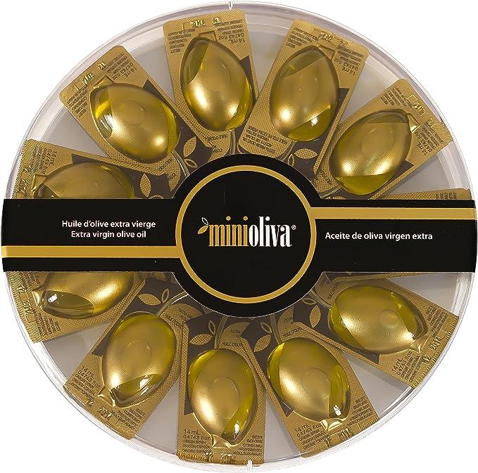 Minioliva Aceite de Oliva Virgen Extra - Paquete de 10 x 14 ml ...