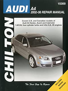 audi a4 service manual 2002 2003 2004 2005 2006 2007 2008 rh amazon com 2002 Audi Car Rear View Mirror for 2000 Audi