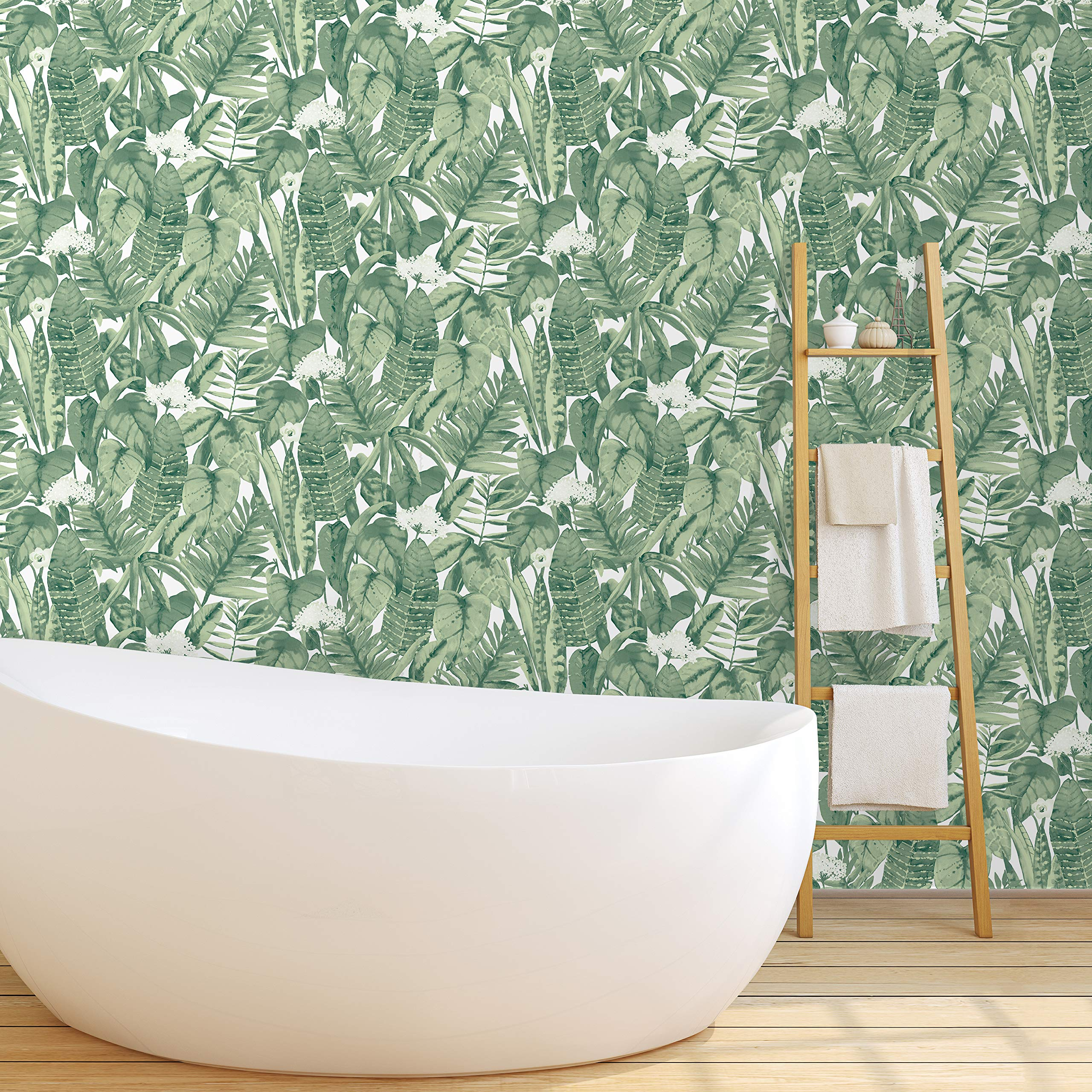 Jungle Green Tropical | Designer Removable Peel and Stick Wallpape