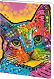 Tree-Free Greetings Recycled Soft Cover Journal, Ruled, 5.5 x 7.5 Inches, 160 Pages, Cat-Tastic Themed Dean Russo Cat Art (89188)