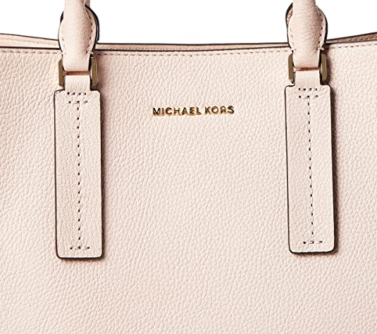 Michael Kors Alessa grand sac en cuir rose doux cartable Pink ...