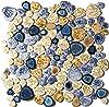 BluJellyFish Glazed Blue Mosaic Shower Wall Flooring Tile