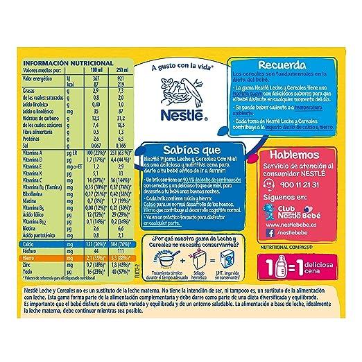 Nestlé Leche y Cereales con Miel Pijama - 2 unidades de 250 ml