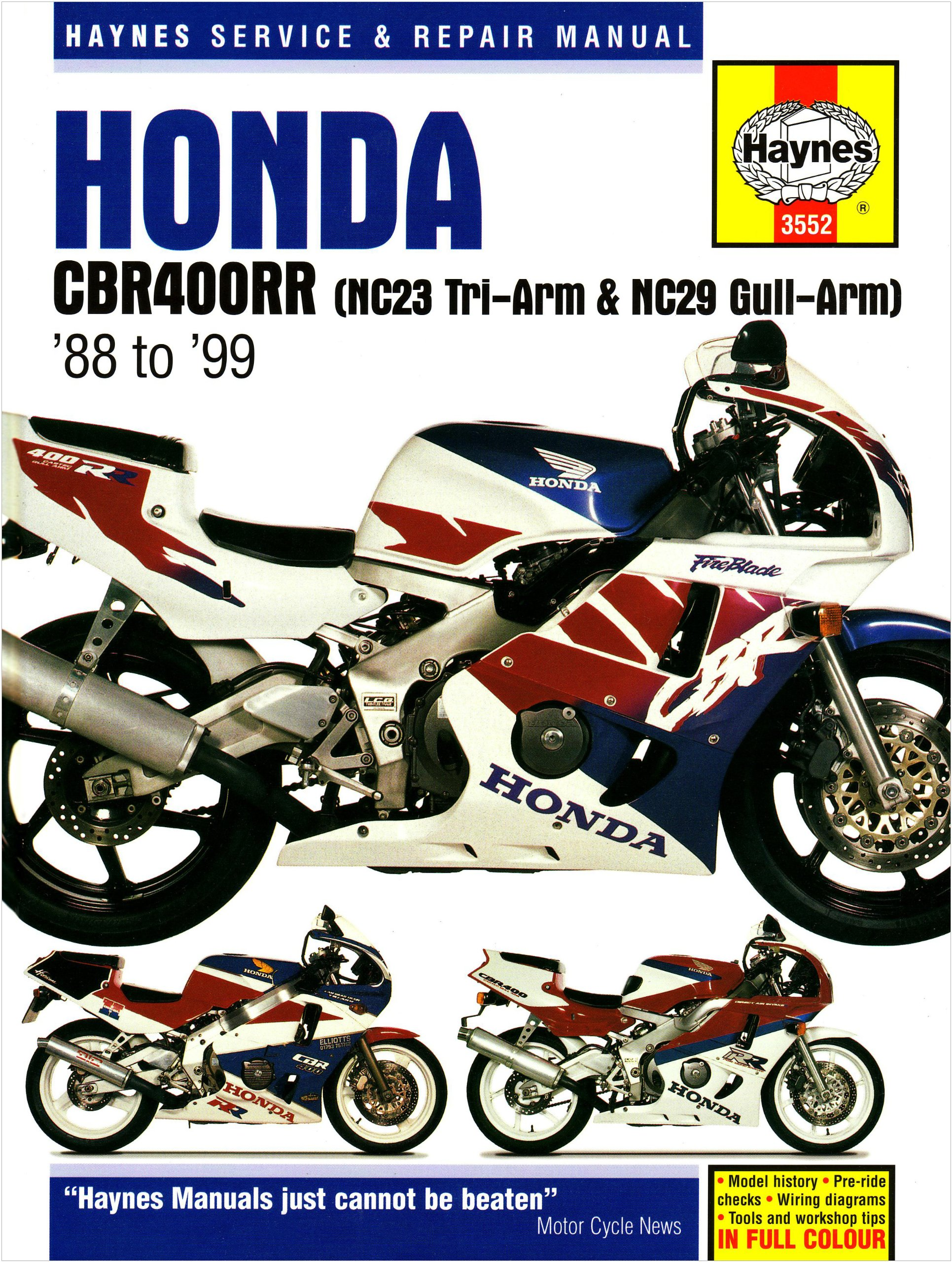 honda cbr400rr nc29 gullarm 1990 99 service and repair manual rh amazon com Honda CBR 400 NBC29 Jobspot