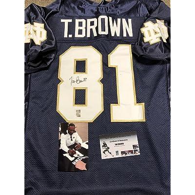 huge discount 71d8e f2b25 Tim Brown Autographed Signed Notre Dame Jersey GTSM TBROWN ...