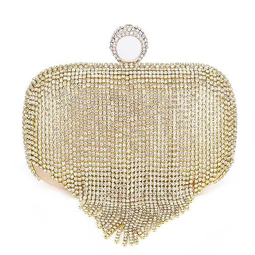 Amazon.com: Clocolor - Bolso de mano con cristales de estrás ...