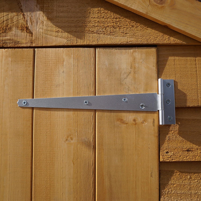 Waltons - Cobertizo de madera para jardín, sin ventanas, con techo a dos aguas, aprox. 3 x 1, 8 m.: Amazon.es: Jardín