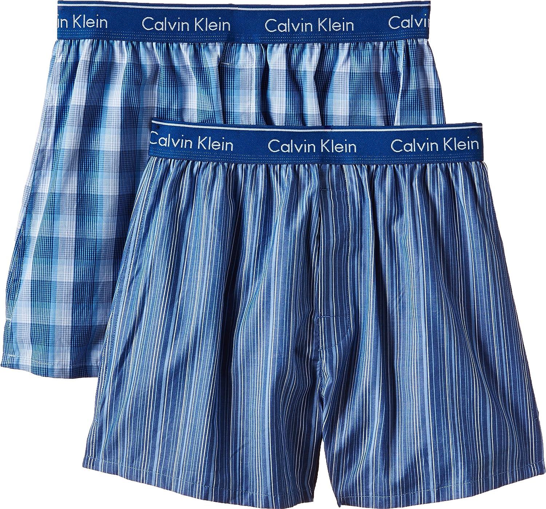 Calvin Klein Men's Pack of 2 Woven Boxer Shorts 000NU1725A