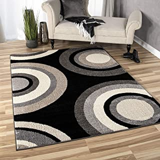 """product image for Orian Rugs American Heritage Roundtree Area Rug, 7'10"""" x 10'10"""", Black"""
