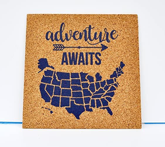 Amazon Adventure Awaits Push Pin Cork Travel Map of the – Travel Map Of The United States