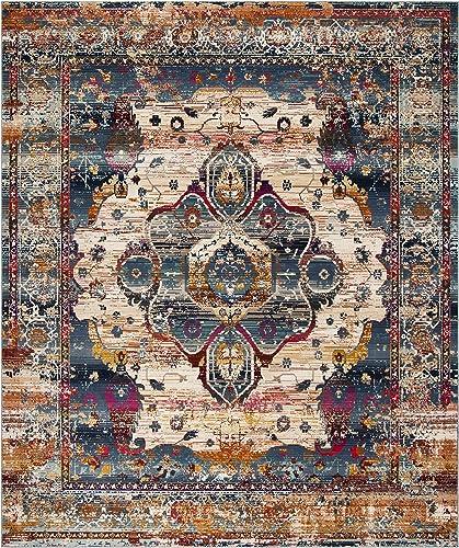 Best living room rug: Safavieh Baldwin Collection BDN194C Vintage Boho Chic Distressed Non-Shedding Stain Resistant Living Room Bedroom Area Rug