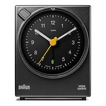 Braun - Despertador clásico con activación por voz BNC004BKBK, color negro