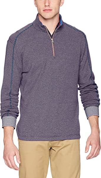 Robert Graham Mens Firth Quarter Zip Knit