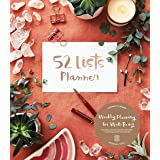 52 Lists Planner Undated 12-month Monthly/Weekly Planner with Pocket (Coral Crystal): Includes Prompts for Well-Being, Reflec