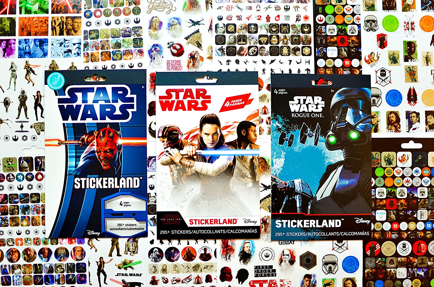 Star Wars Stickers Variety Pack 900 Stickers Featuring Your Favorite Star Wars Characters 12 Sticker Sheets Perfect for Star Wars Party Favors