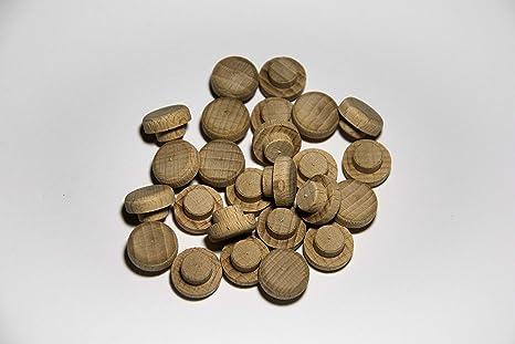 Pack de 25 tapones de madera Haya (Ø 10/15 mm con mecha)