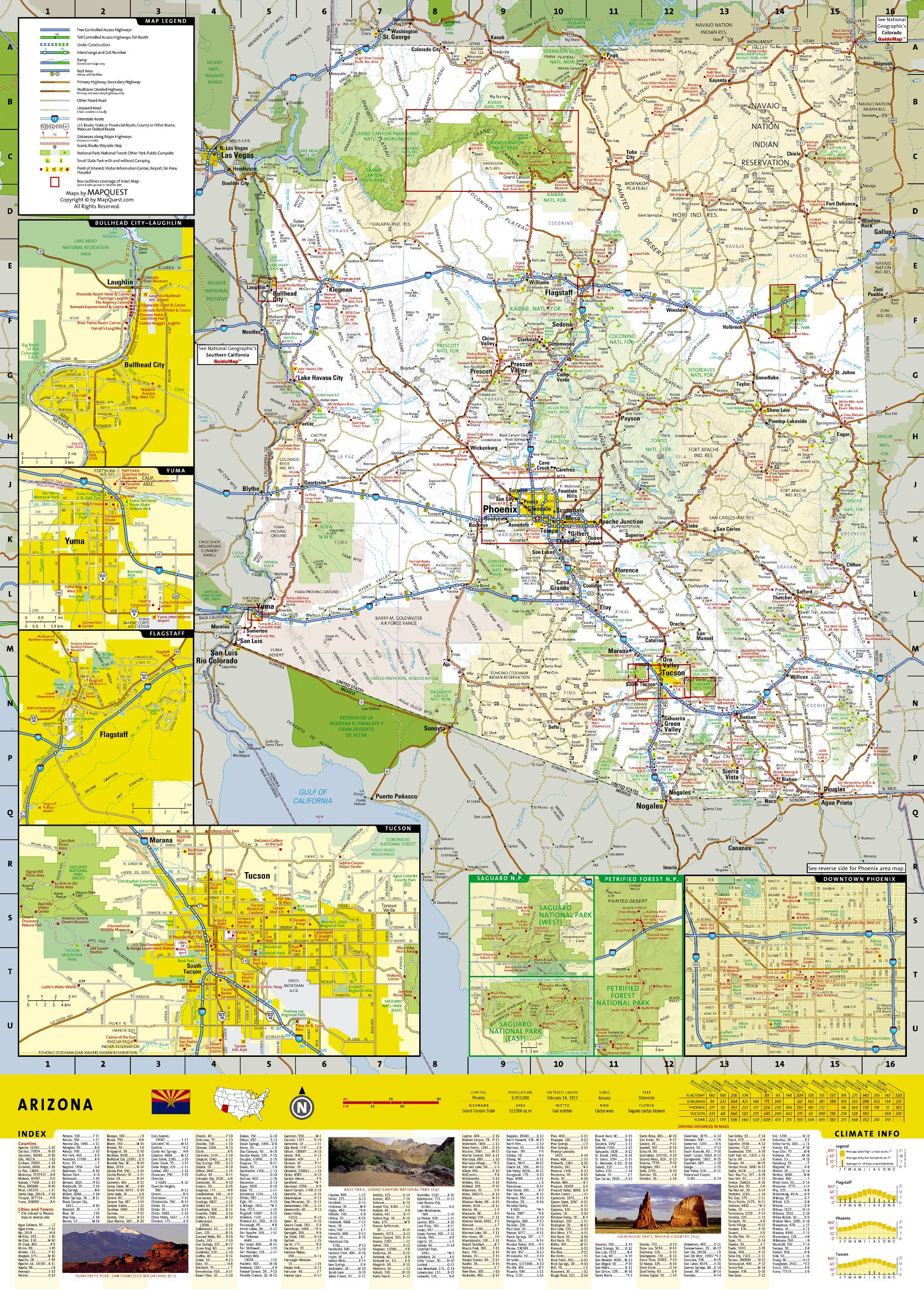 Arizona National Geographic Guide Map National Geographic Maps - Arizona city maps