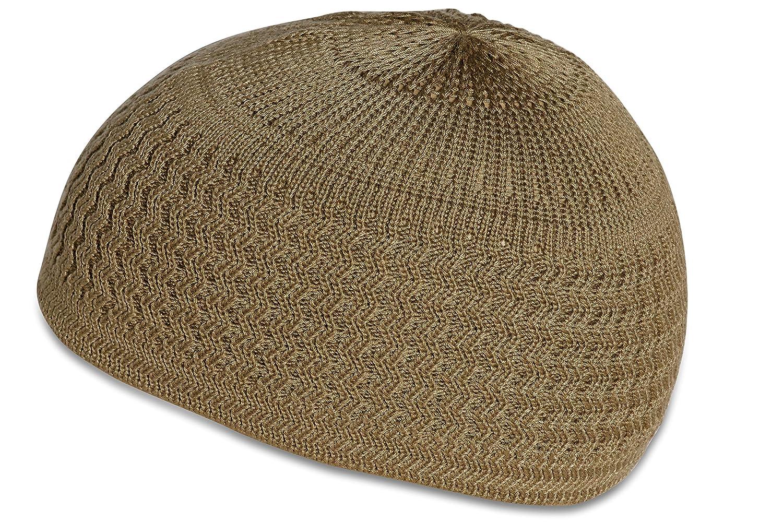 Candid Signature Apparel Zigzag Threaded Skull Cap Chemo Kufi Beanie Hat  for Men Women Bikers (Beige) at Amazon Men s Clothing store  edab6995fa30