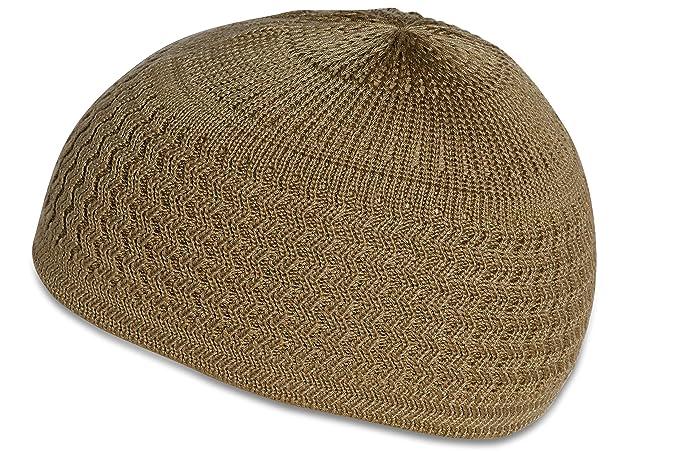 Candid Signature Apparel Zigzag Threaded Skull Cap Chemo Kufi Beanie Hat  for Men Women Bikers ( 2631695ce37