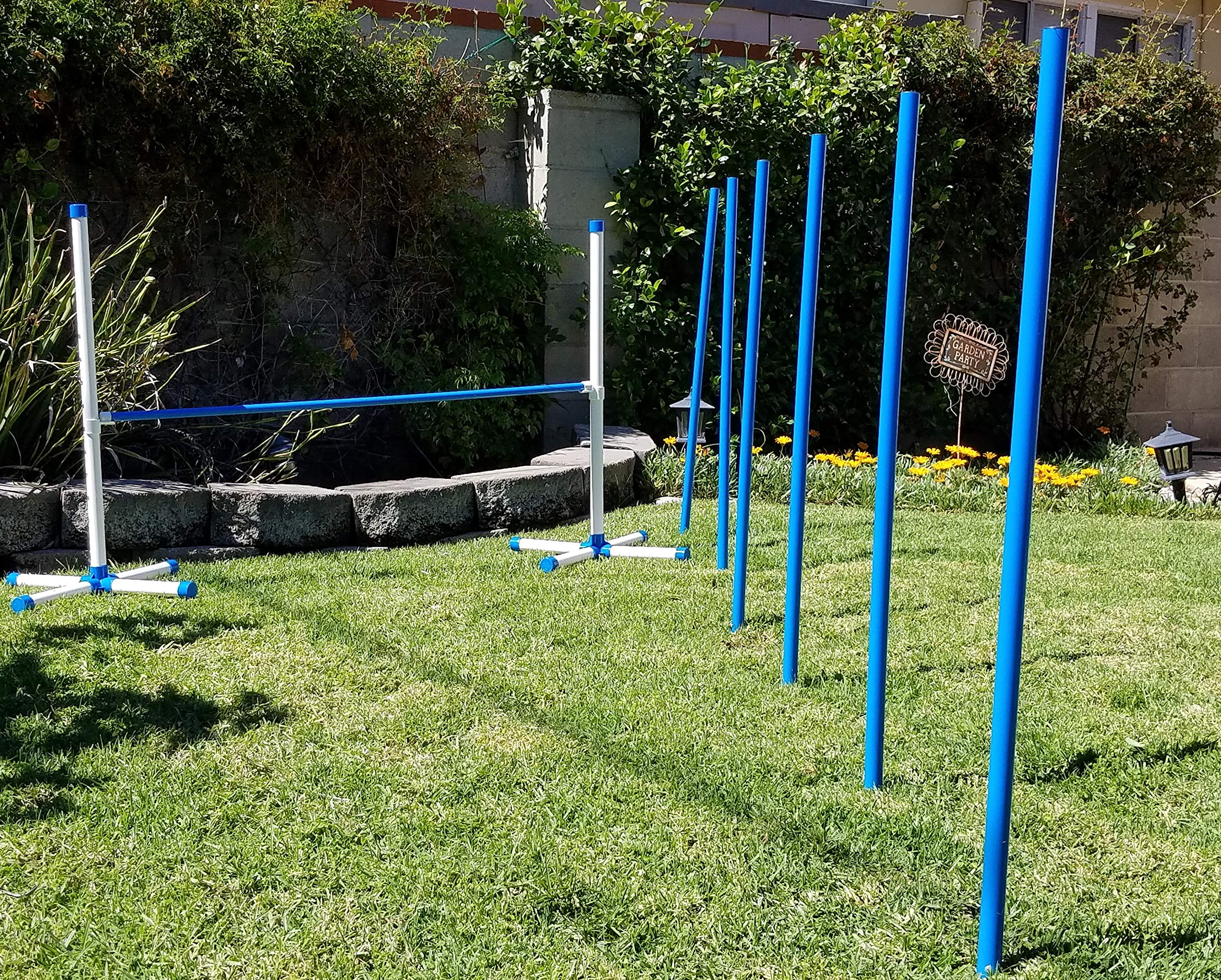 Triple A Dogs Combo 1 Dog Agility Jump/6 Dog Agility Weave Poles Buy Combo and Save