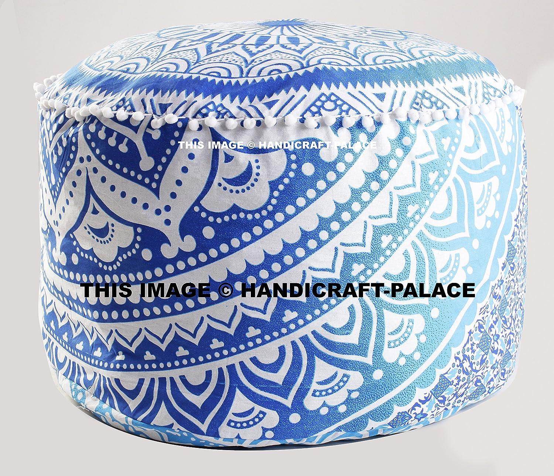 Bohemian Pouf Ottoman pouffe Ombre Mandala Indian Pouf Ottoman Seat Pouffe 24 By Handicraft-Palace MOS-15